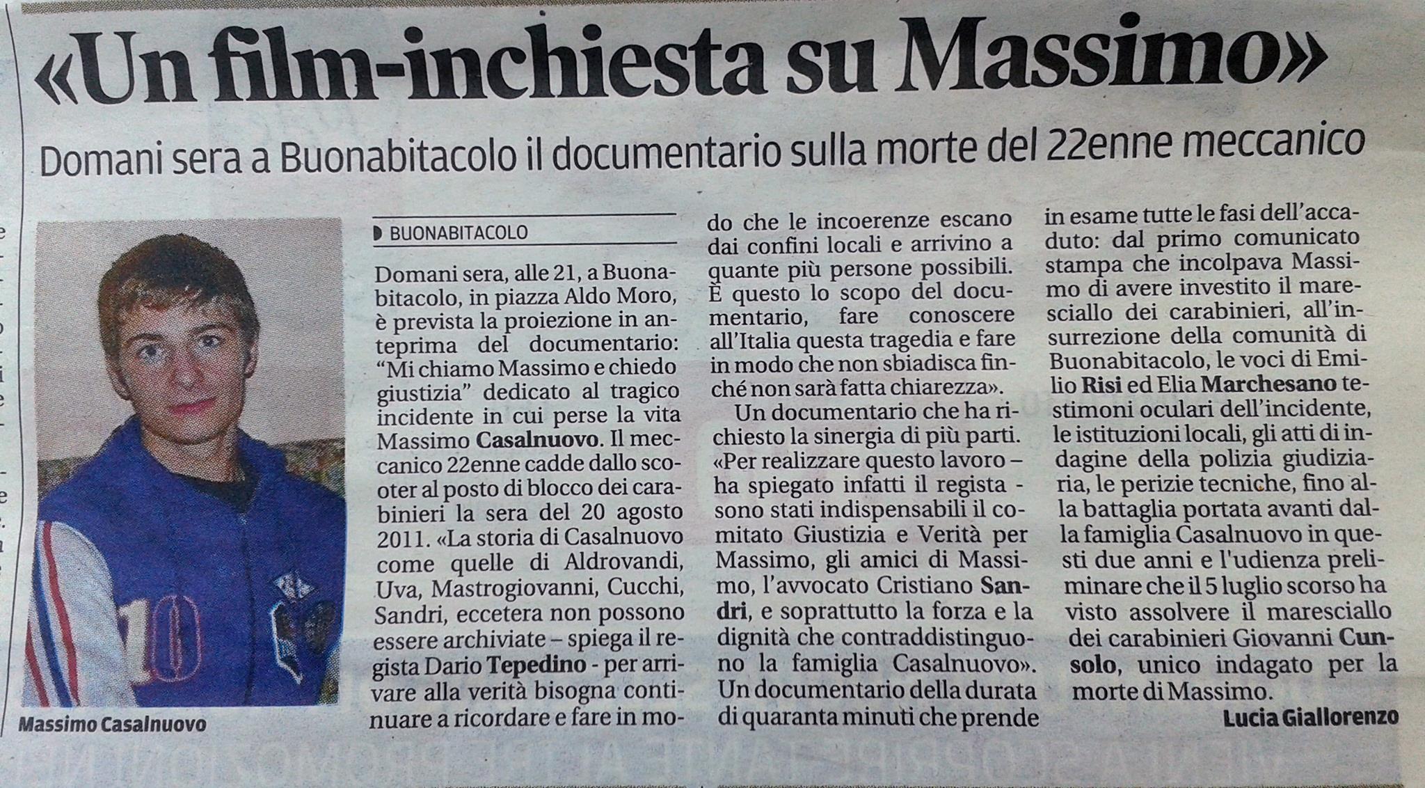 UN FILM-INCHIESTA SU MASSIMO