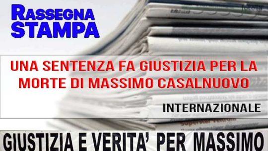 UNA SENTENZA FA GIUSTIZIA PER LA MORTE DI MASSIMO CASALNUOVO