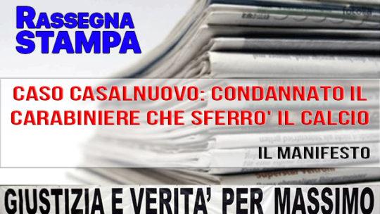CONDANNATO IL CARABINIERE CHE SFERRO' IL CALCIO