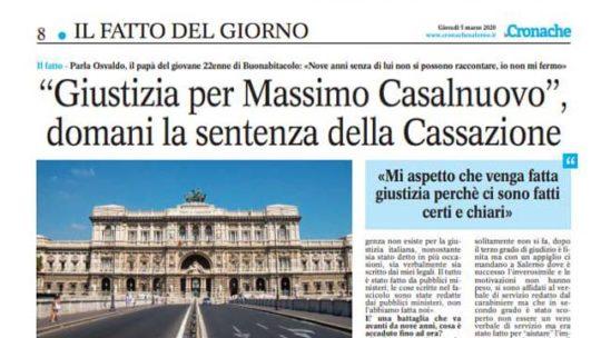 """""""GIUSTIZIA PER MASSIMO CASALNUOVO"""""""
