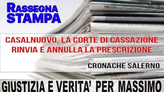 CASALNUOVO, LA CORTE DI CASSAZIONE RINVIA E ANNULLA LA PRESCRIZIONE